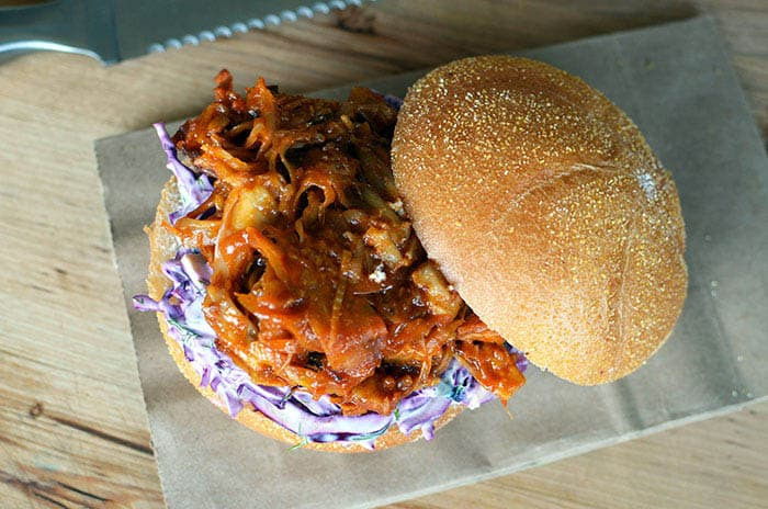 vegetarian Pulled pork sandwich