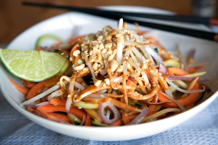 Raw Pad Thai- Dorm Friendly Recipe (VEGAN & PALEO)