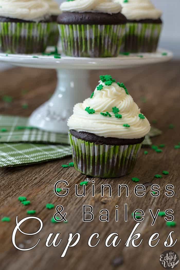 6:38 Guinness Cupcakes w/ Bailey's Buttercream | VEGAN Cupcake Recipe