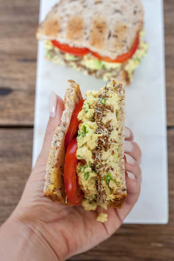 tofu egg salad