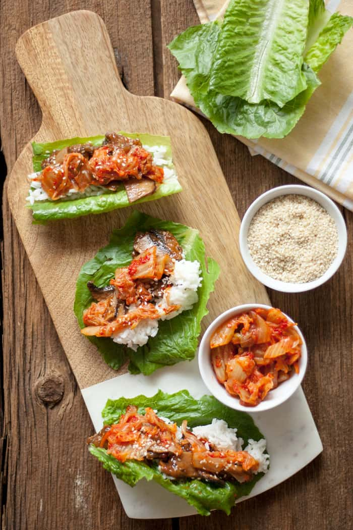 Bulgogi Mushroom Lettuce Wraps in an Instant Pot | VEGAN