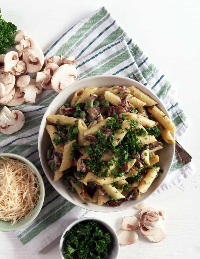 Creamy Mushroom Pasta Vegan Pasta Recipe The Edgy Veg