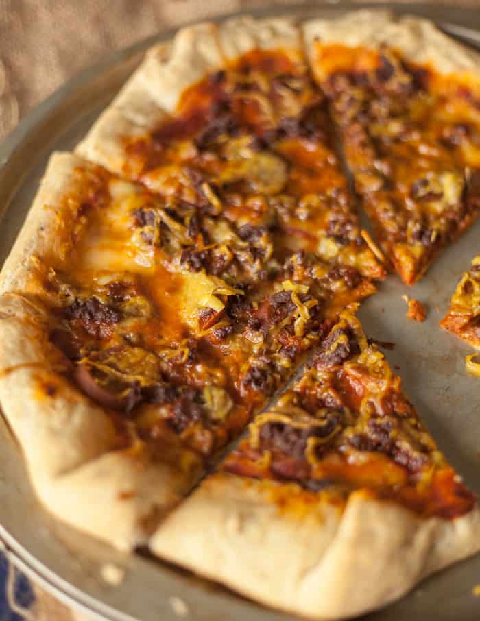 Pizza Hut Stuffed Crust Pizza | Vegan Pizza Hut Copycat Recipe