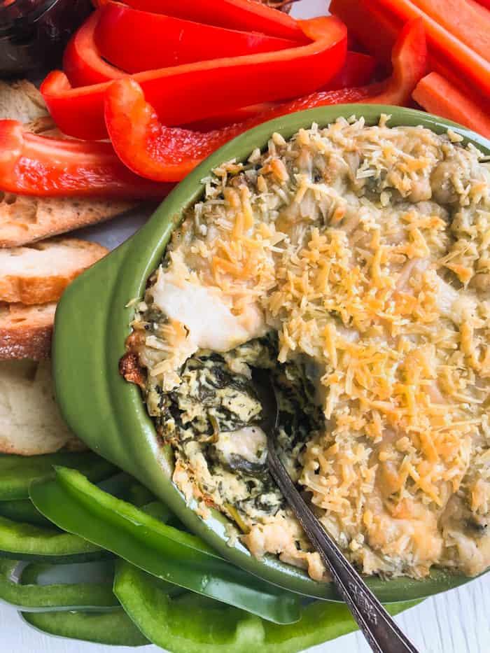 BAKED VEGAN SPINACH DIP RECIPE | Dairy-Free, Gluten-Free, Vegan