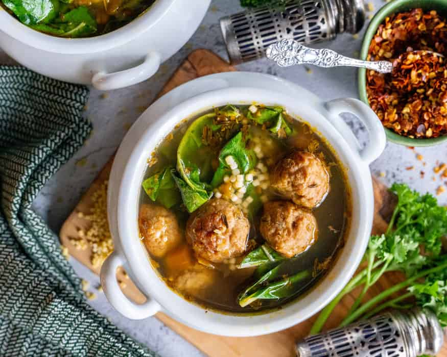 Vegan Italian Wedding Soup crock pot recipe