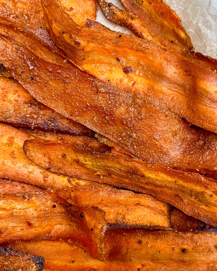 Tasty carrot bacon