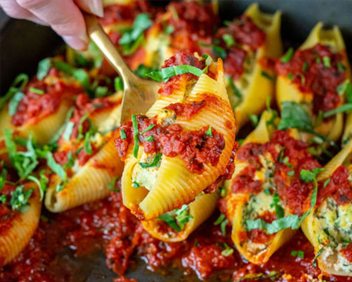 Vegan Stuffed Shells with Ricotta