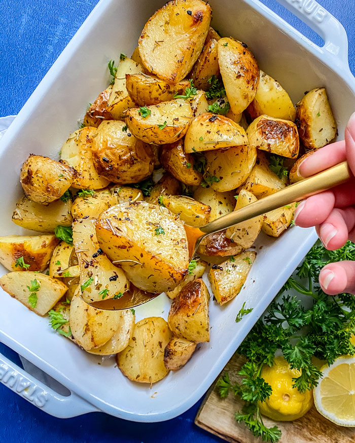 Greek Potatoes Vegan