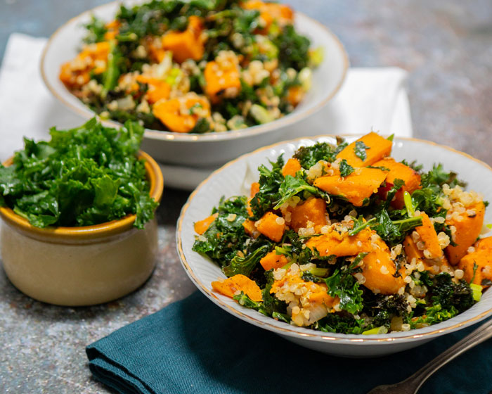 Kale Sweet Potato Quinoa Salad