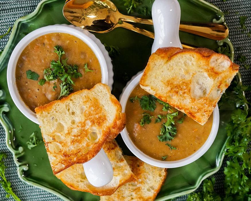 Vegan Red Lentil Soup (Easy Instant Pot Recipe)