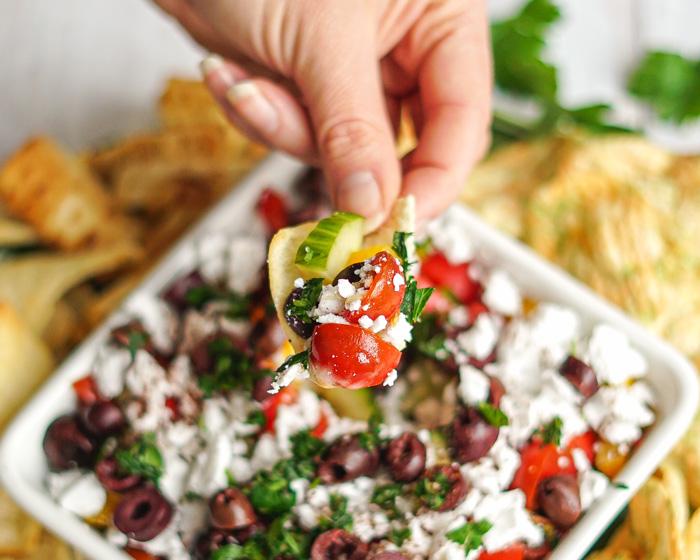 Vegan Greek Salad Dip