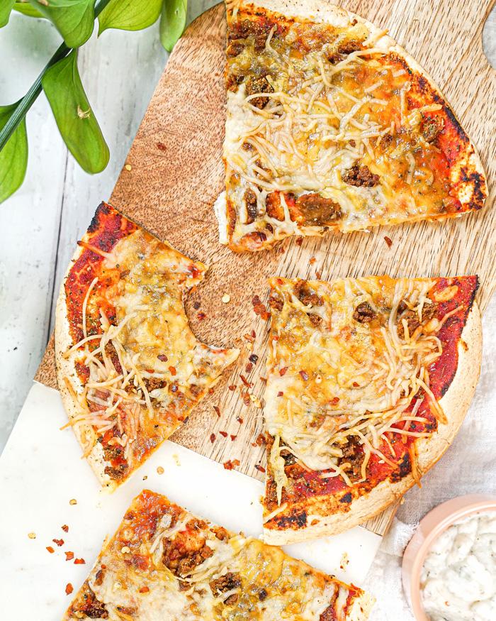 Vegan Tortilla Pizza Recipe