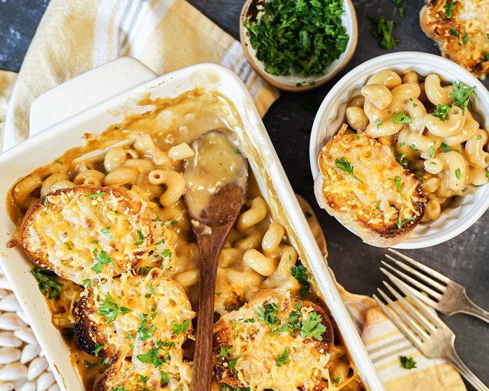 Vegan French Onion Mac & Cheese
